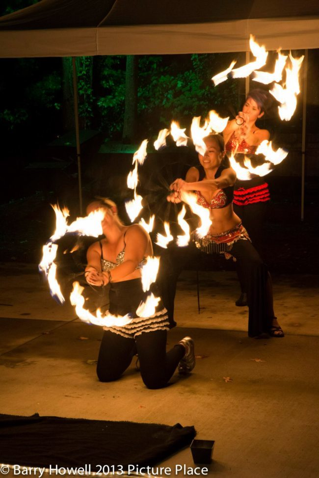 Irene | Asyia | Mindy | Fire Dancers | Fire Fan Trio | Performers | Imagine Circus | Cirque | Raleigh, NC