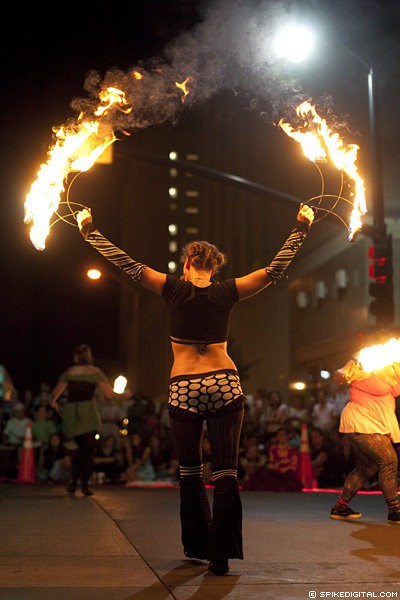 Jewels| Big Top Circus | Fire Fans | Street Festival | Performer | Imagine Circus | Cirque | Raleigh, NC
