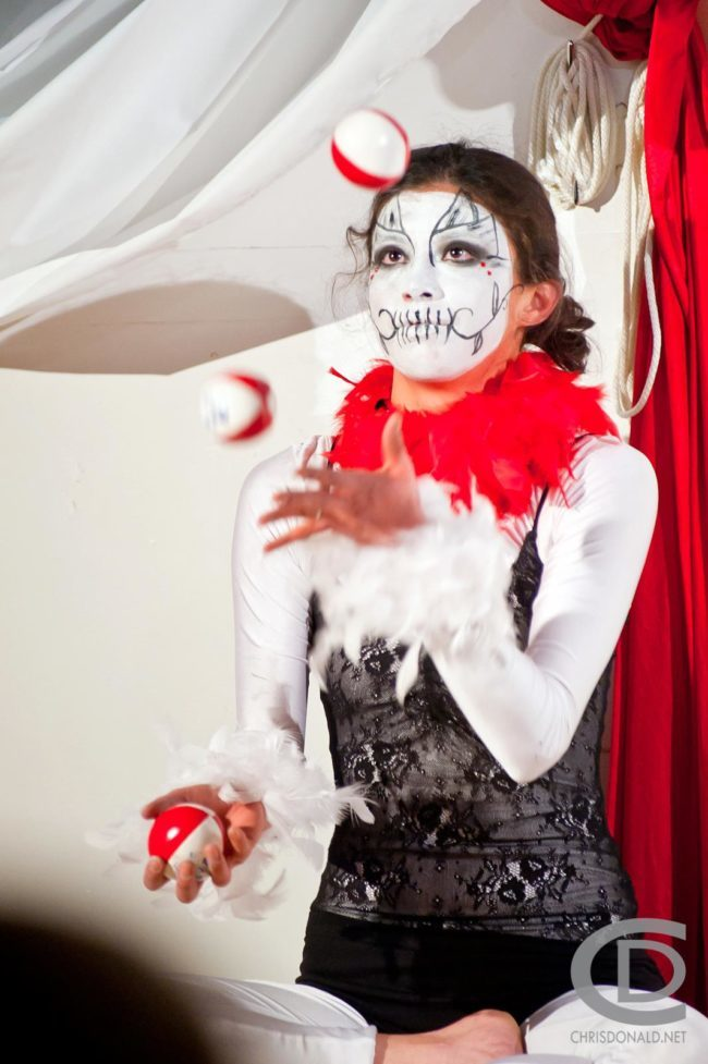 Kaci | Day of the Dead | Jugglers | Acrobatic Performance | Partner Acro | Juggling | Imagine Circus | Cirque | Raleigh, NC