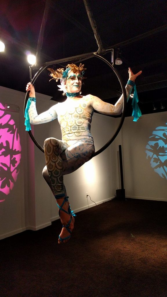 Katie | Under the Sea | Makeup | Mermaids | Aerial Performance | Lyra Performer | Imagine Circus | Cirque | Raleigh, NC
