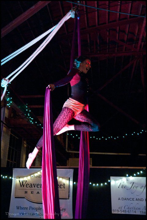 Katie | Aerial Silks | Aerial Dancer | Mardi Gras | Performer | Imagine Circus | Cirque | Raleigh, NC