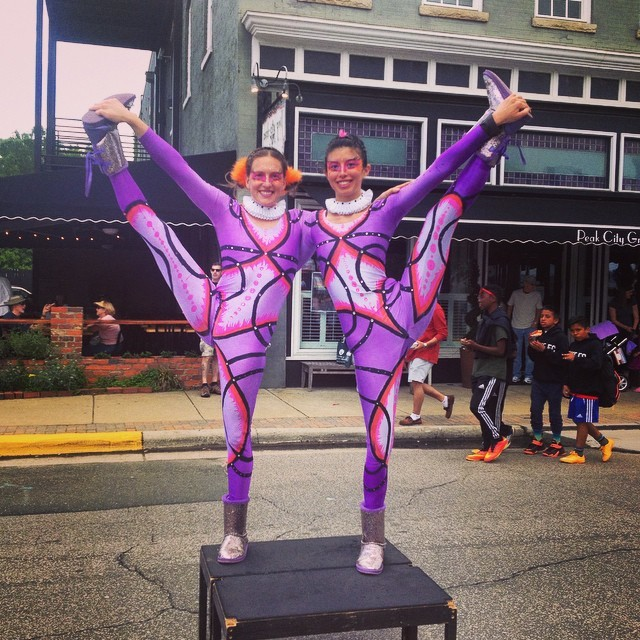 Katie | Kaci | Acrobatic Performance | Street Festival | Partner Acro | Duo | Imagine Circus | Cirque | Raleigh, NC