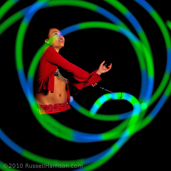Asyia | LED Poi| Flow Artist | Performer | Imagine Circus | Cirque | Raleigh, NC