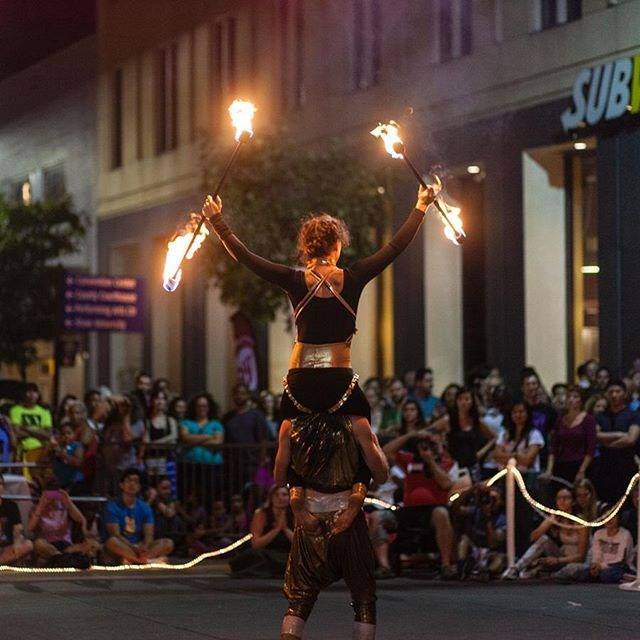 Liz | Adam | Acrobatic Performance | Fire Acro | Partner | Duo | Street Festival | Imagine Circus | Cirque | Raleigh, NC