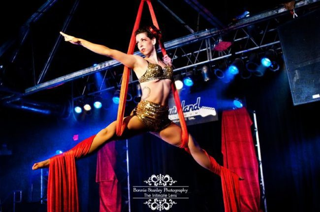 Liz | Aerial Silks | Aerial Dancer | Speakeasy | Roaring 20's | Sexy | Performer | Imagine Circus | Cirque | Raleigh, NC