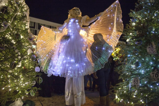 Winged Dancer | Winter Holidays | Snow Princess | Stilt Walker | LED Isis Wings | Performer | Imagine Circus | Cirque | Raleigh, NC