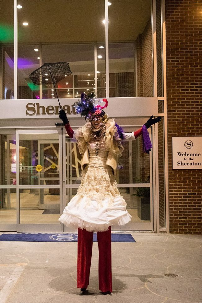 Liz | Stilt Walker | Mardi Gras | Imagine Circus | Cirque | Raleigh, NC