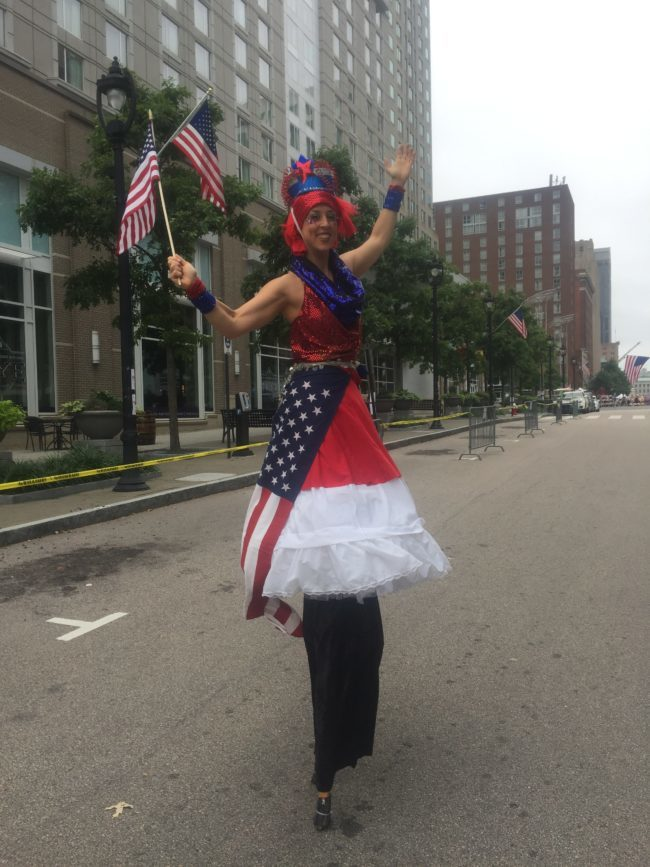 Patriotic Holidays | 4th of July Parade | Stilt Walker | Imagine Circus | Cirque | Raleigh, NC
