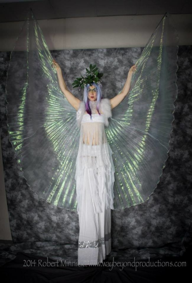 Liz | Winged Dancer | Stilt Walker | Isis Wings | Performer | Imagine Circus | Cirque | Raleigh, NC