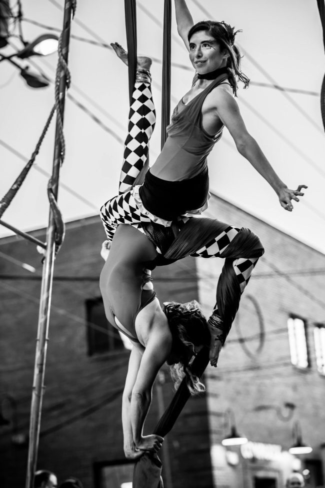 Big Top Circus | Partner Aerial Silks | Silk Performers | Aerial Fabric | Aerial Duo | Imagine Circus | Cirque | Raleigh, NC