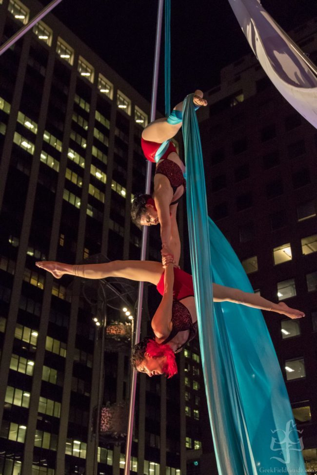 Kaci | Liz | Roaring 20s | Speakeasy | Aerial Performance | Partner Silks | Performers | Imagine Circus | Cirque | Raleigh, NC