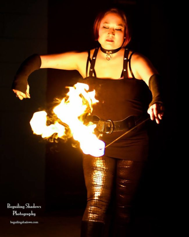 Memory | Fire Orb | Flow | Performer | Imagine Circus | Cirque | Raleigh, NC