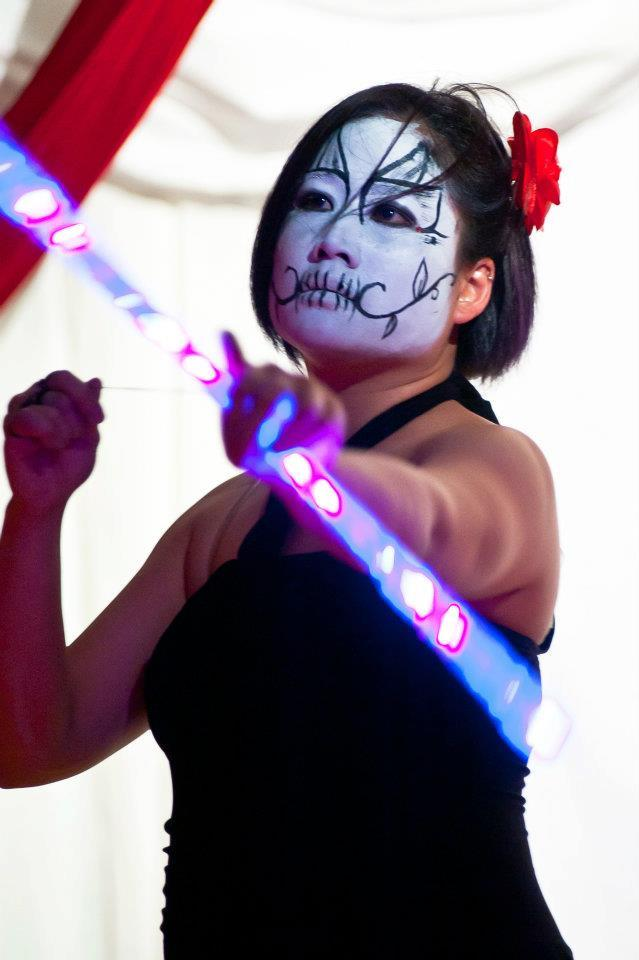 Memory | Day of the Dead | Flow Performer | LED | Wand | Imagine Circus | Cirque | Raleigh, NC