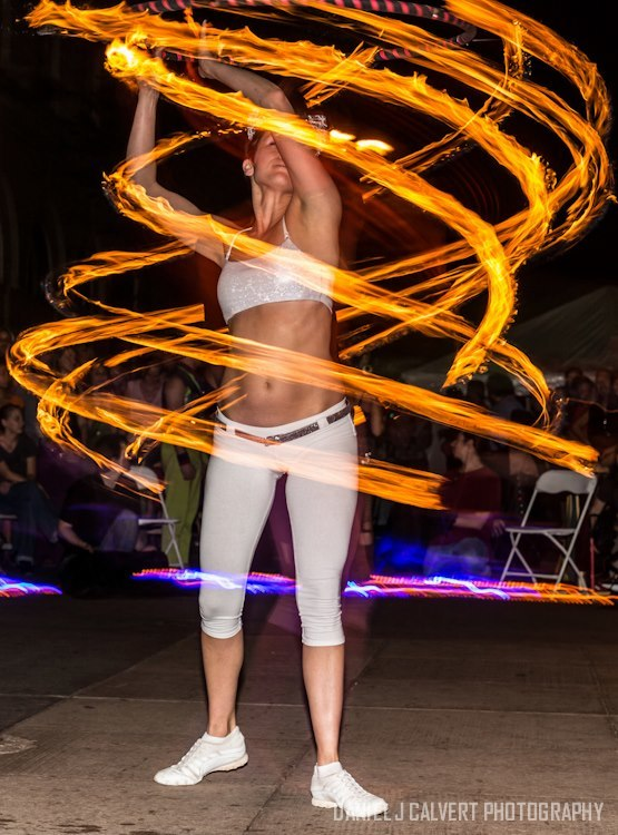 Mindy | White Party | Fire Hoop | Hula Hoop | Street Festival | Performer | SPARKcon | Imagine Circus | Cirque | Raleigh, NC