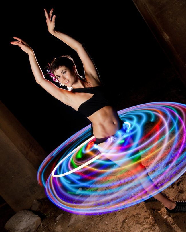 Mindy | LED Performance | Hoop | Hooper | Imagine Circus | Cirque | Raleigh, NC