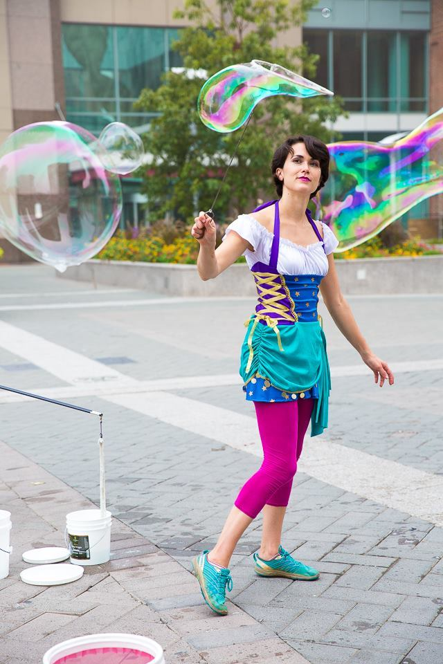 Mindy | Interactive Bubble Experience | Bubble Art | Performer | Imagine Circus | Cirque | Raleigh, NC