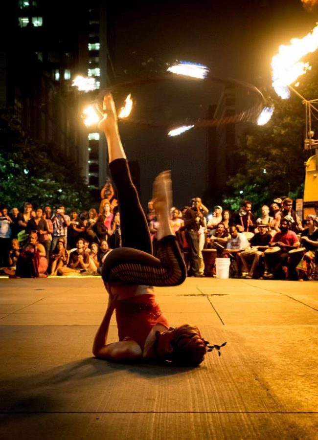 Mindy | Fire Hoop | Hula Hoop | Street Festival | Performer | SPARKcon | Imagine Circus | Cirque | Raleigh, NC