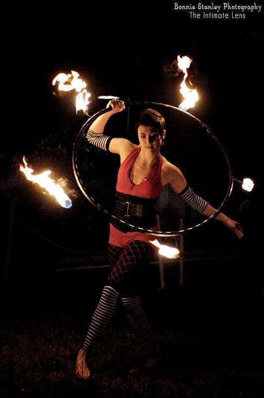 Mindy | Fire Hoop | Hula Hoop | Dancer | Performer | Imagine Circus | Cirque | Raleigh, NC