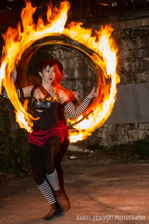 Mindy | Fire Hoop | Hula Hoop | Dancer | Street Festival | Performer | Imagine Circus | Cirque | Raleigh, NC