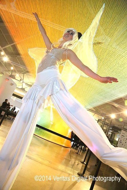 Mindy | Stilt Walker | White Party | Winged Dancer | Performer | Imagine Circus | Cirque | Raleigh, NC