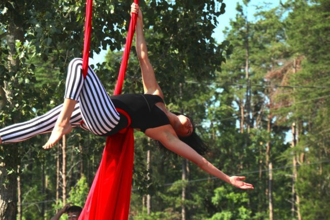 Morgan | Aerial Performance | Silks | Big Top Circus | Crane | Imagine Circus | Cirque | Raleigh, NC