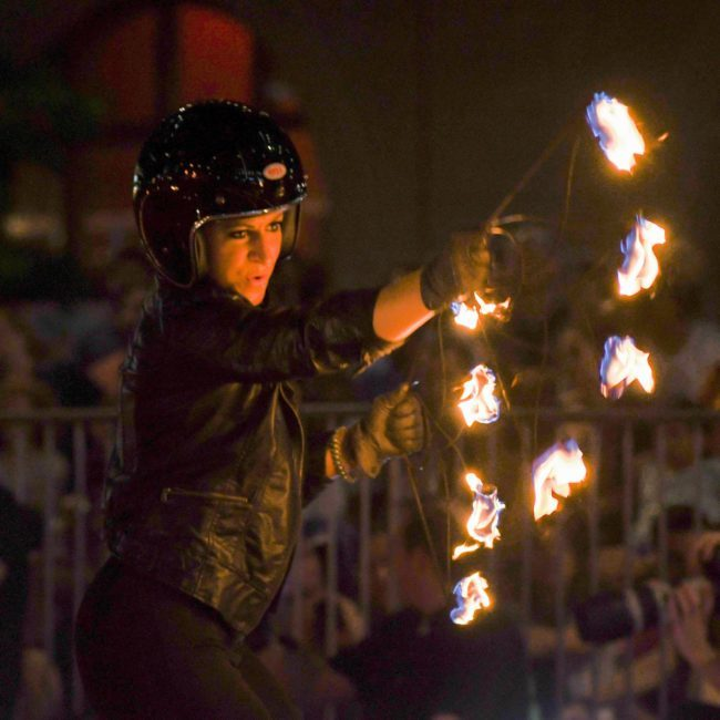 Robin | Motorcycle | Fire Performer | Fans | Imagine Circus | Cirque | Raleigh, NC