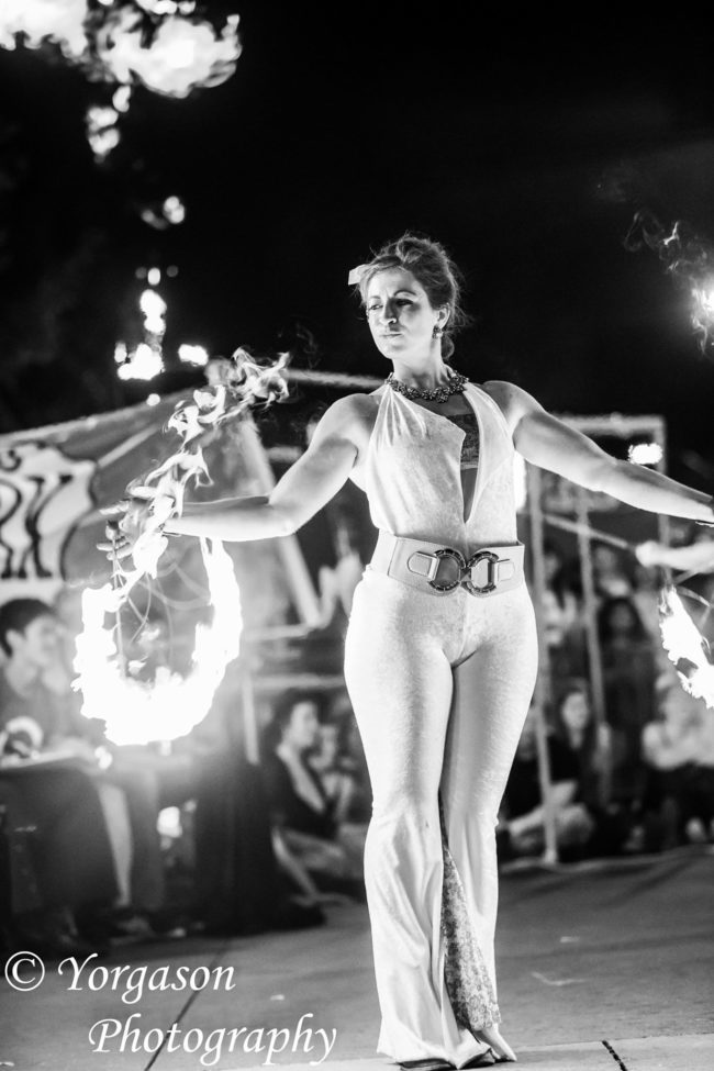 Robin | White Costume | Fire Performer | Fans| Imagine Circus | Cirque | Raleigh, NC