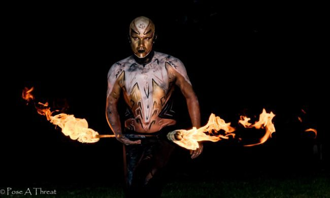 Scott | Metallic | Futuristic | Fire Performer | Fire Staff | Performer | Imagine Circus | Cirque | Raleigh, NC