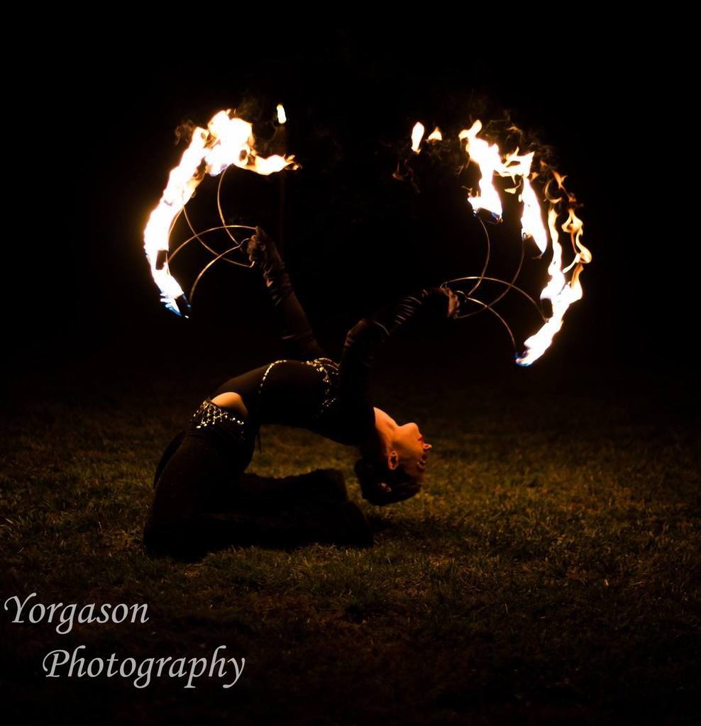 Adult fire performer