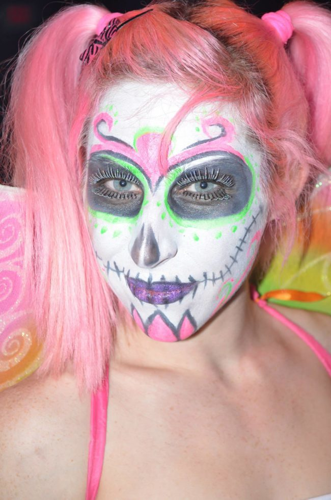 Adrenaline | Day of the Dead | Performer | Makeup | Imagine Circus | Cirque | Raleigh, NC