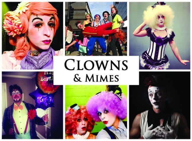 Clowns & Mimes | Imagine Circus | Acts | Cirque | Raleigh, NC