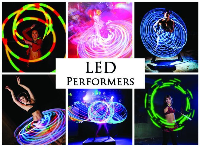 LED & Glow Performers | Imagine Circus | Acts | Cirque | Raleigh, NC