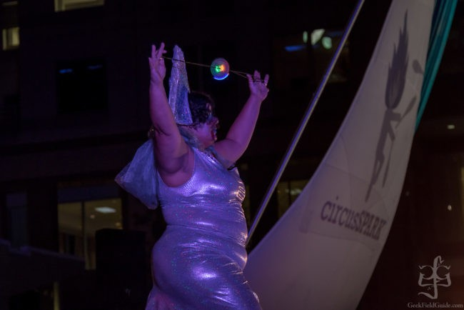 Gatita | Glow Performer | LED Orb | Metallic | Futuristic | Imagine Circus | Cirque | Raleigh, NC
