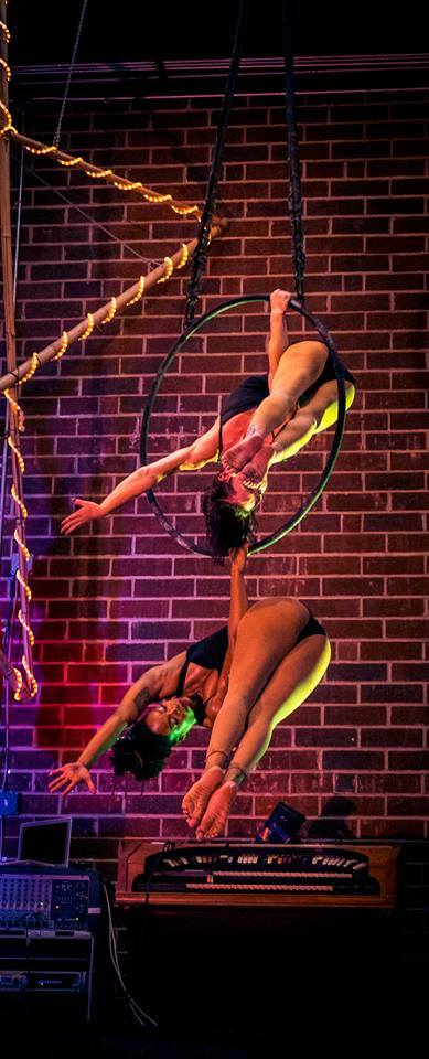 Gena | Brittany | Aerial Performers | Partner Lyra | Duo Aerials | Imagine Circus | Cirque | Raleigh, NC