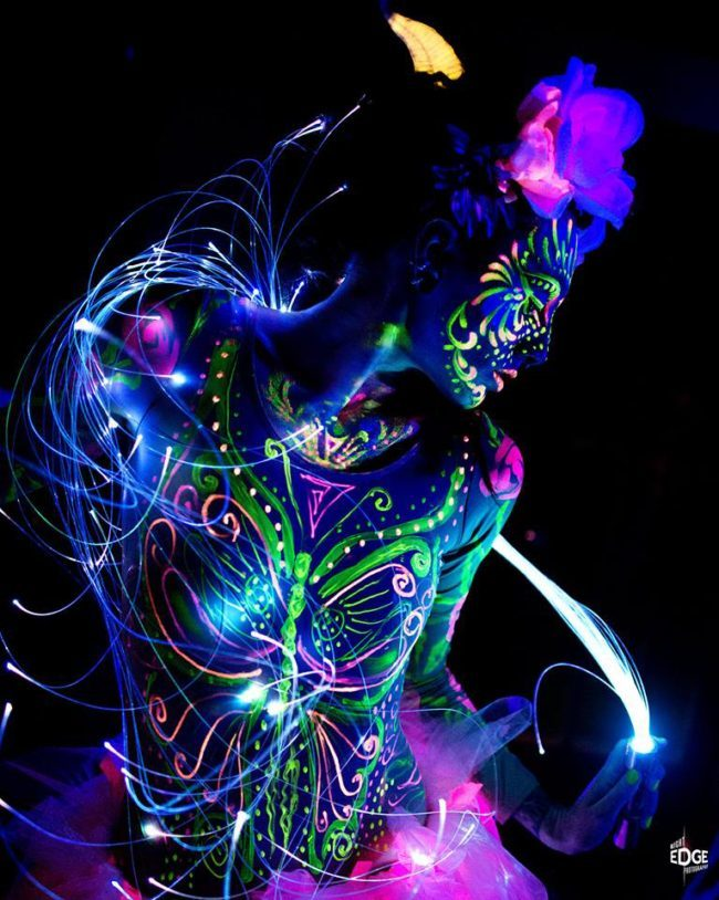 Tik-Tok | LED | Black Light | Neon | Glow | Model | Performer | Imagine Circus | Cirque | Raleigh, NC