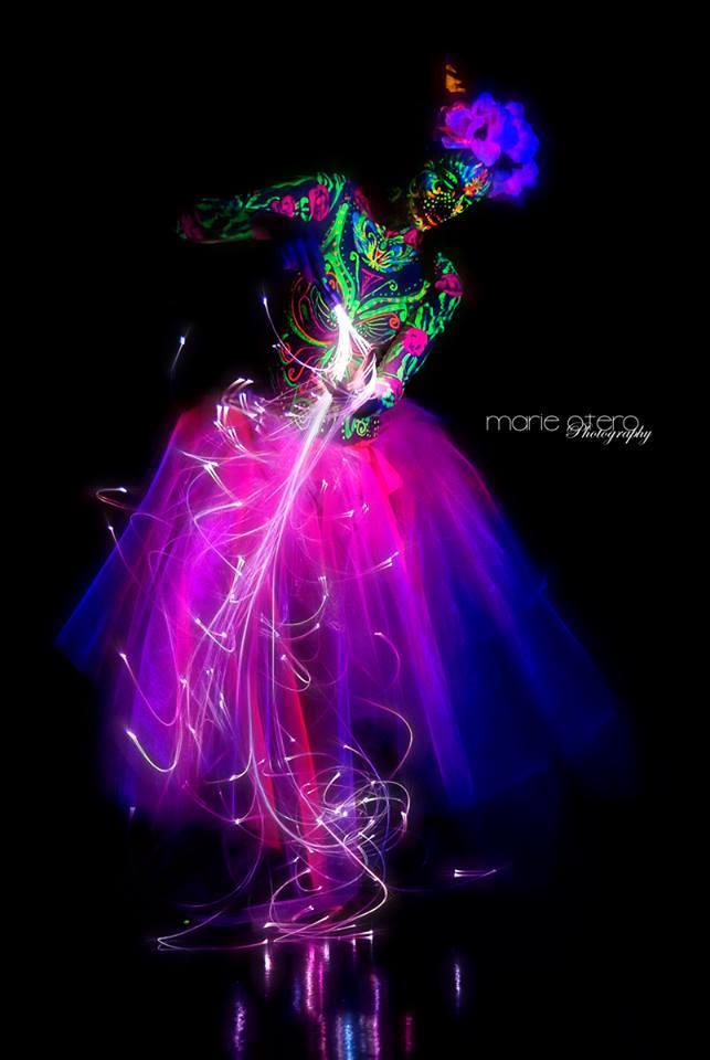 Tik-Tok | LED | Black Light | Neon | Glow | Model | Performer | Imagine Circus | Cirque | Raleigh, NC