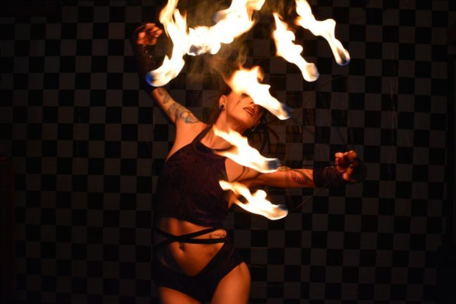 Tik-Tok | Fire Perfomance | Fans | Model | Performer | Sexy | Adult | Imagine Circus | Cirque | Raleigh, NC