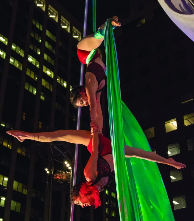 Liz | Kaci | Aerial Performance | Partner Aerials | Duo | Silks | Imagine Circus | Cirque | Raleigh, NC