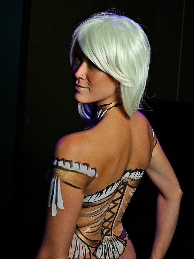 Mindy | Body Paint | Living Canvas | Model | Performer | Imagine Circus | Cirque | Raleigh, NC