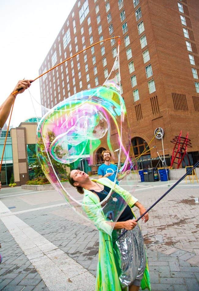 Joey | Interactive Bubble Experience | Bubble Art | Performer | Imagine Circus | Cirque | Raleigh, NC