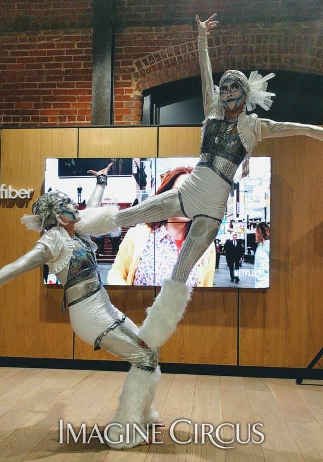 Acrobats, Partner Acrobatics, Acro Duo, Katie, Kaci, Imagine Circus