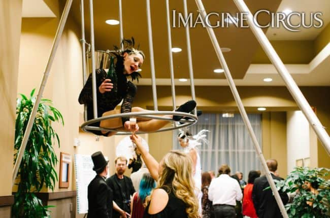 Aerial Bartender, Aerial Birdcage, Custom Apparatus, Brittany, Imagine Circus, Photo by Rachel Berbec
