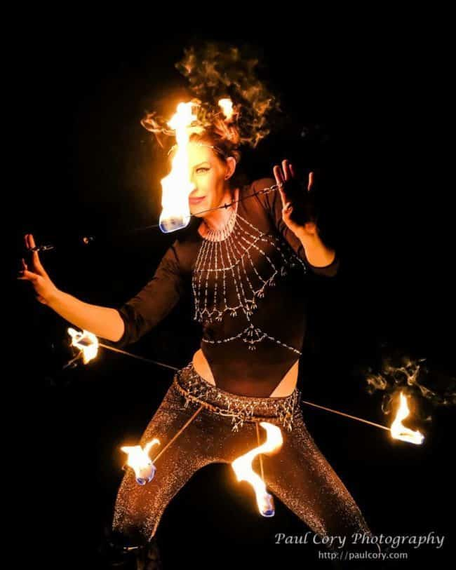 Adrenaline | Fire Dancer | Fire Belt | Performer | Imagine Circus | Cirque | Raleigh, NC
