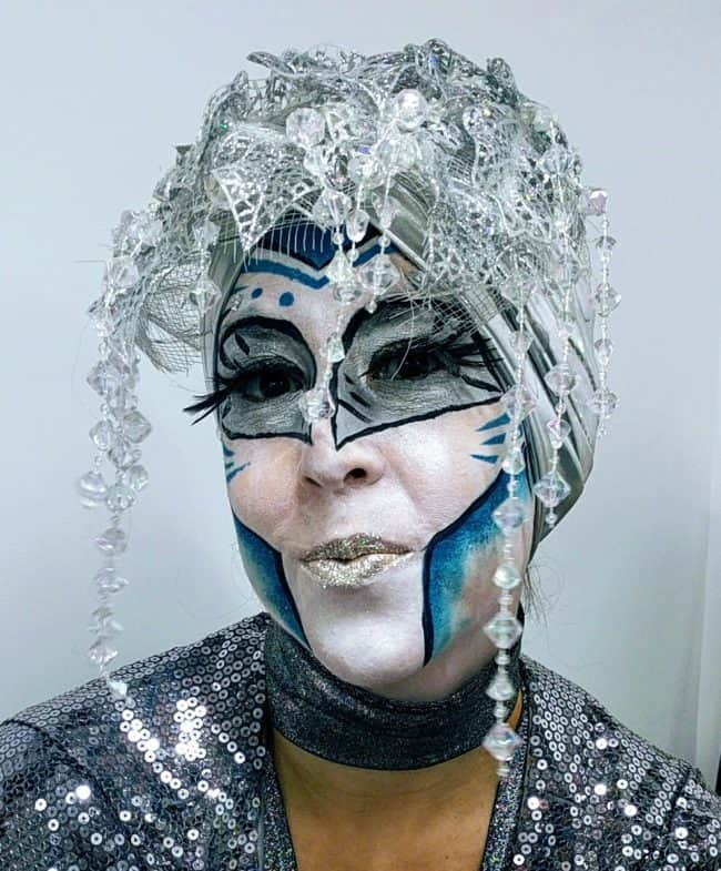 Cirque Makeup | Liz Bliss | Google Fiber Event | 2017 | Custom Theme | Futuristic | Performer | Imagine Circus | Cirque | Raleigh, NC | Liz Bliss