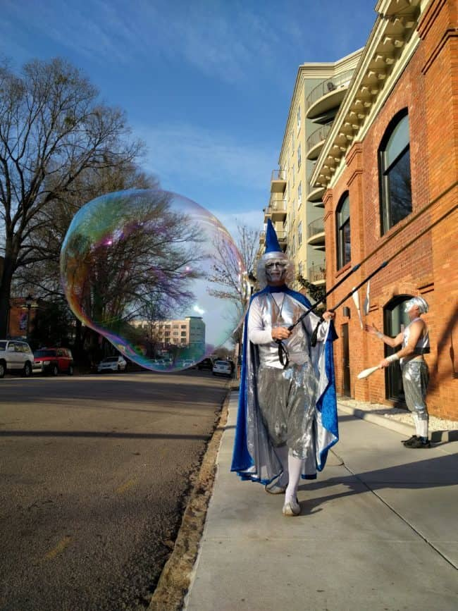 Joey | Interactive Bubble Experience | Wizard | Bubble Art | Performer | Imagine Circus | Cirque | Raleigh, NC