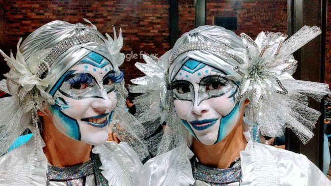 Acrobats | Katie & Kaci | Google Fiber Event | Custom Theme | Futuristic | Performer | Imagine Circus | Cirque | Raleigh, NC