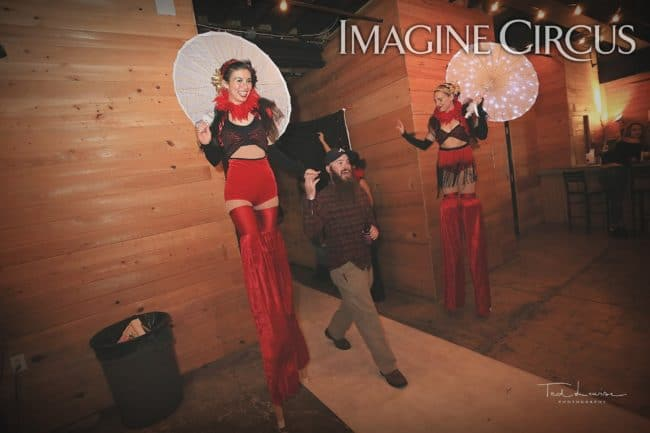 Stilt Walkers, Kaci, Katie, Imagine Circus, Ted Lewis Photography