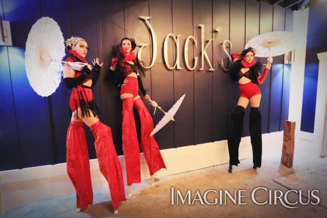 Stilt Walkers, Performers, Katie, Kaci, Liz, Imagine Circus, Ted Lewis Photography