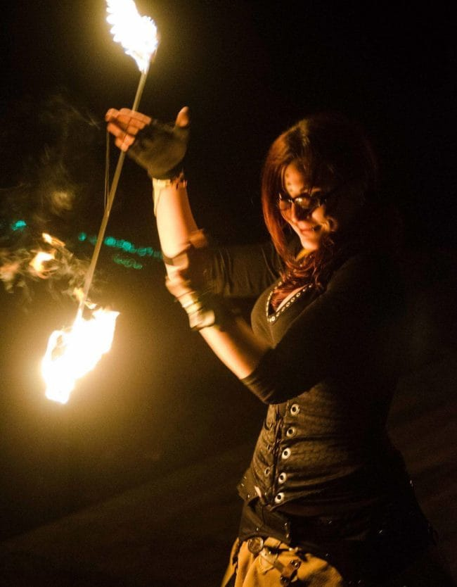 Fire Performer | Christine | Imagine Circus | Raleigh, NC