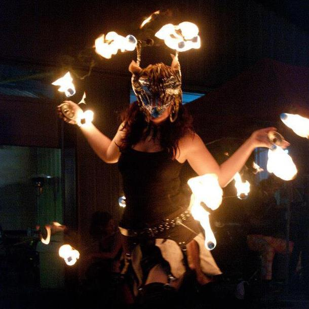 Fire Performer | Fire Mask | Christine | Imagine Circus | Raleigh, NC
